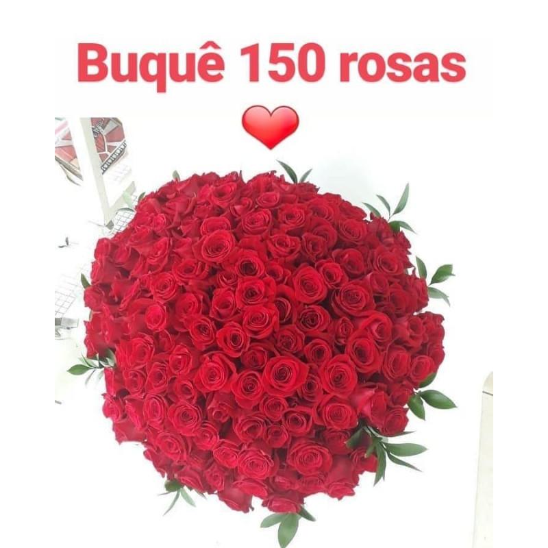"""435 Buque de 150 Rosas vermelhas """"Amor sem Limites"""""""