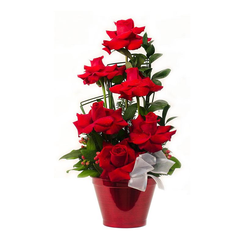 129  Arranjo de Rosas Importadas Médio