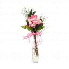 123 Rosa em Vaso Solitário -