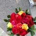 431 Buque 15 rosas coloridas fechadas