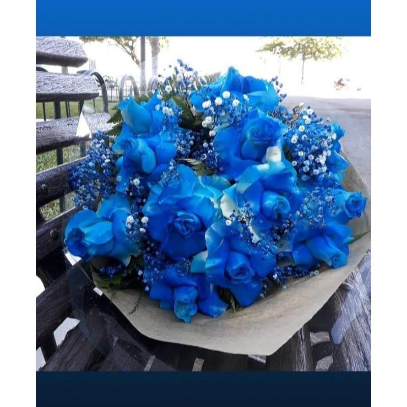 429 Buque de 12 Rosas Azul