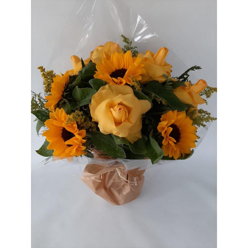 147 Buque 6 Girassóis 6 Rosas Amarelas