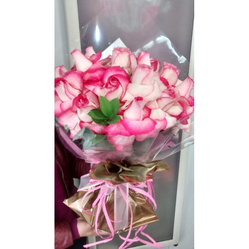 409 Buque  de 12 Rosas cor de rosa